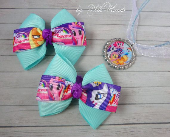 Mini My Little Pony Bows with Alligator Clips