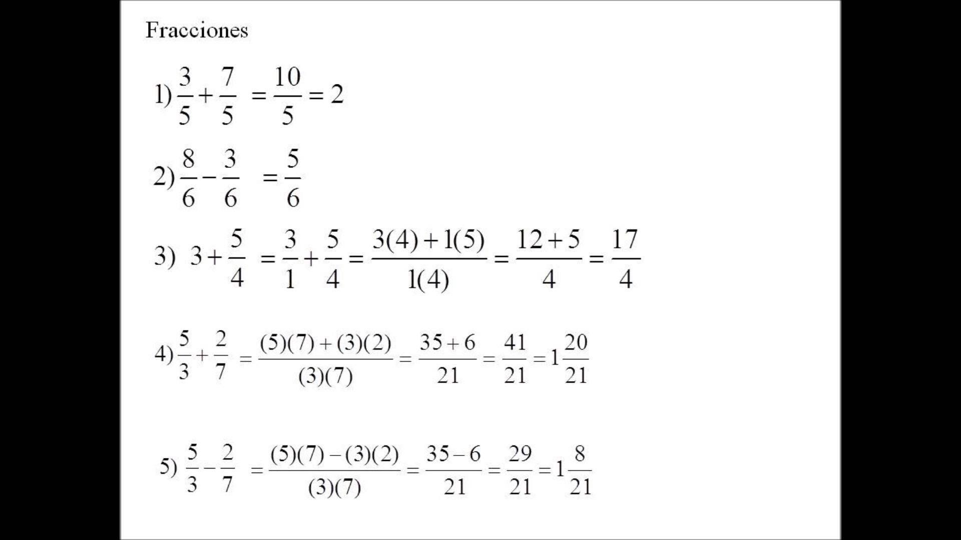 Fracciones Fracciones Fracciones Equivalentes Fraccion Propia