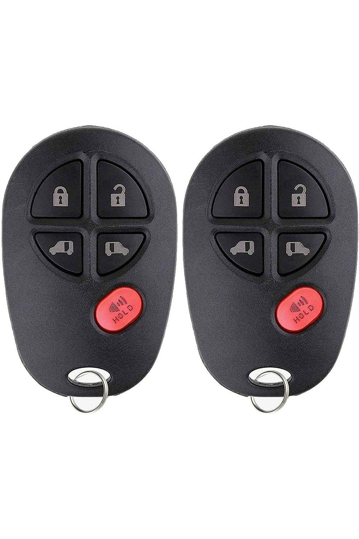 Keylessoption Keyless Entry Remote Control Key Fob For Toyota Sienna 2004 2020 Gq43vt20t Pack Of 2 Toyota Sienna Control Key Keyless Entry Systems