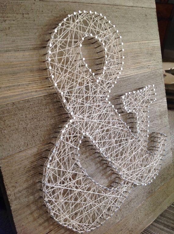 Ampersand String kunst van TheBurlapNestShop op Etsy