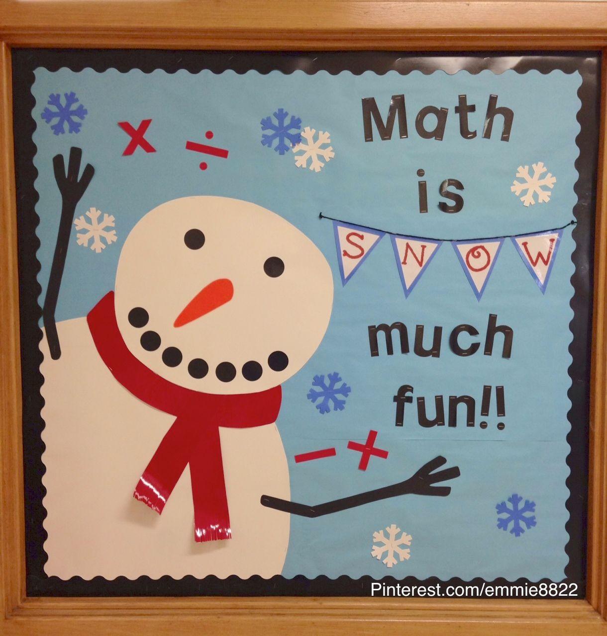 Snowman Winter Bulletin Board I Made Original Pin Emily