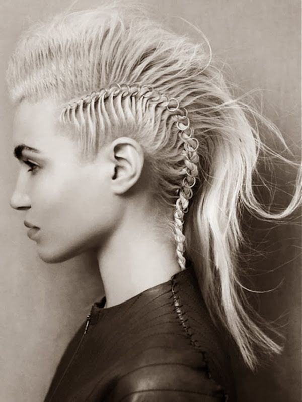 Pierced Punk Hair Braid Haar Ringe Rockige Frisur Frisuren