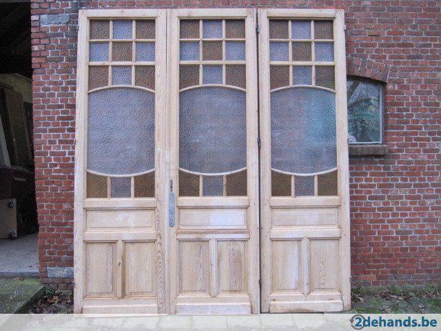288,5hx254br Bijzondere art nouveau drieslag deurenset - Te koop