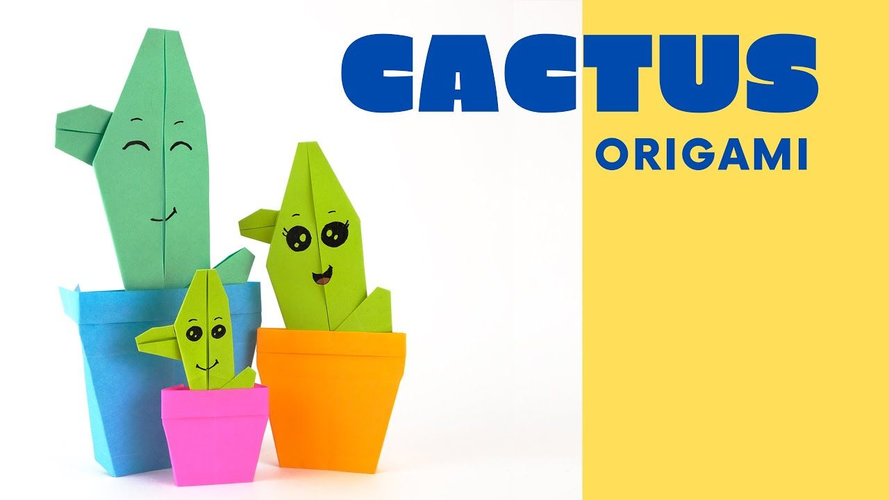 Photo of How to make an origami cactus [easy origami] | Cute origami decoration