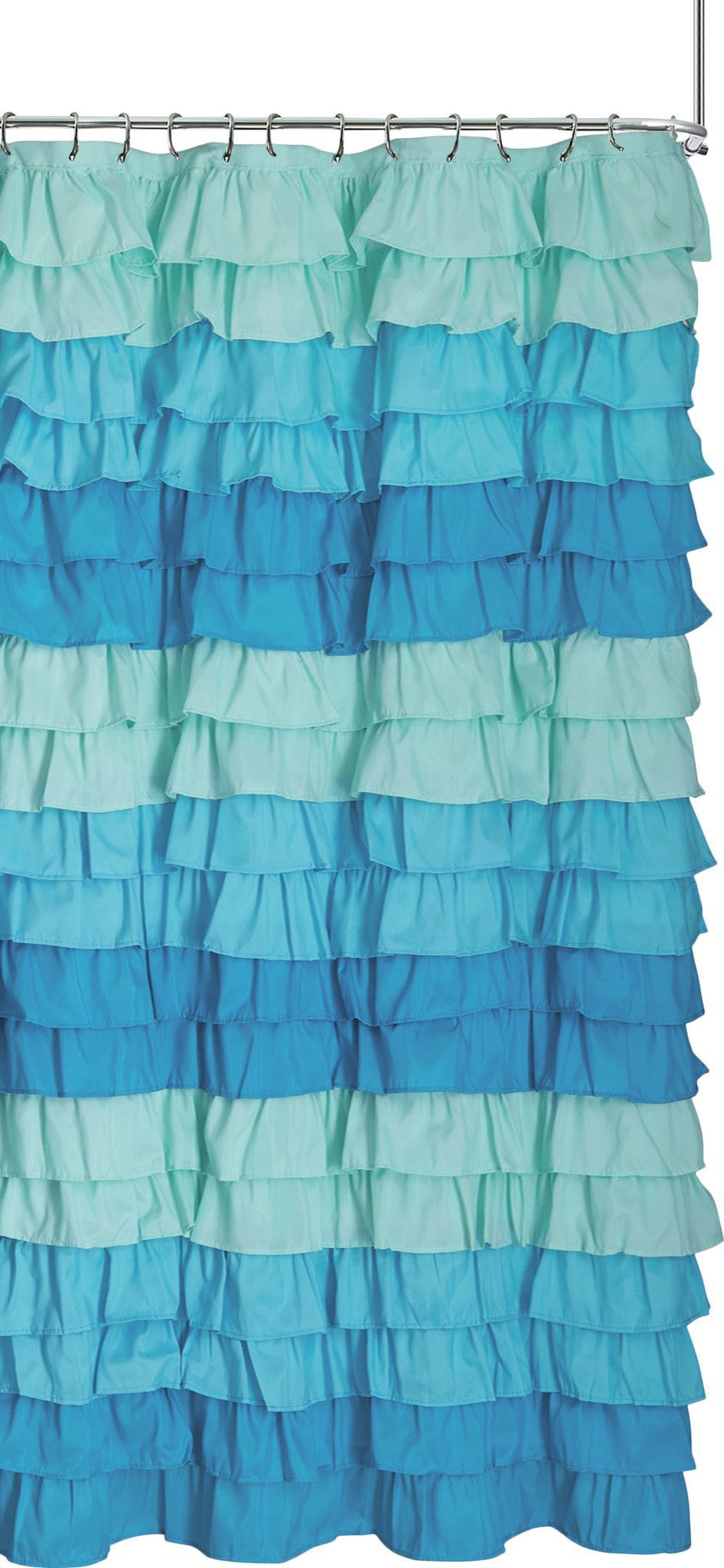 Venezia Ruffle Shower Curtain | Products | Pinterest | Ruffle shower ...