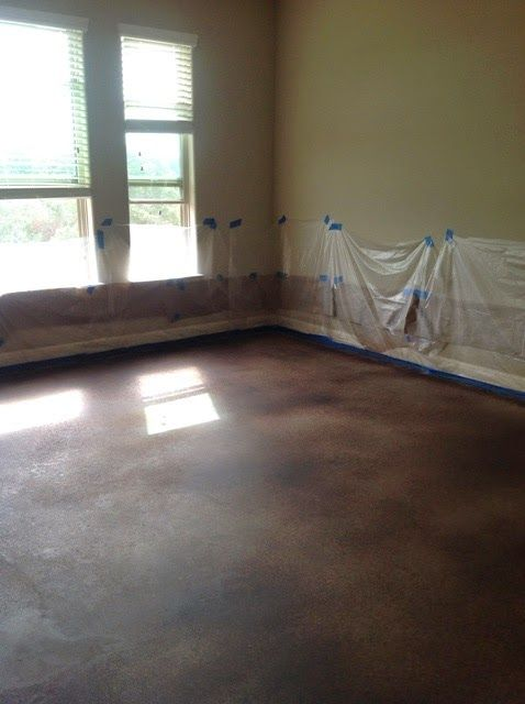 How to Dye or Stain Concrete Floors by 504 Main  Custom