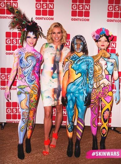 Skin Wars Tv Competition Gsn Skin Wars Skin Paint Human Canvas