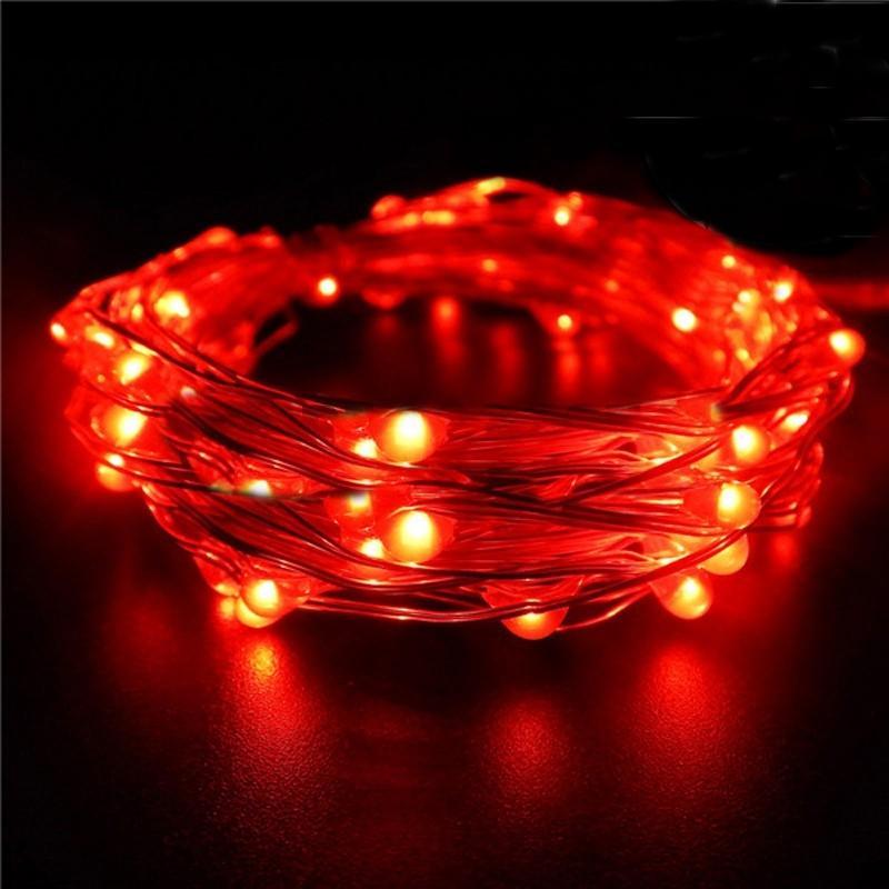 7 5 Ft 20 Led Red String Light Lamp