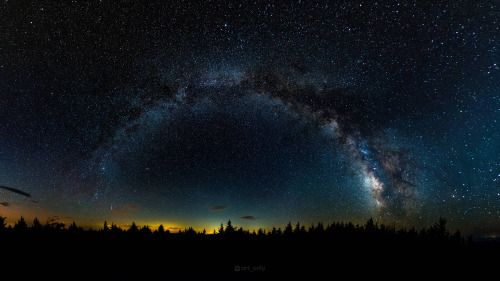 The Milky Way last week from the high point of West Virginia...