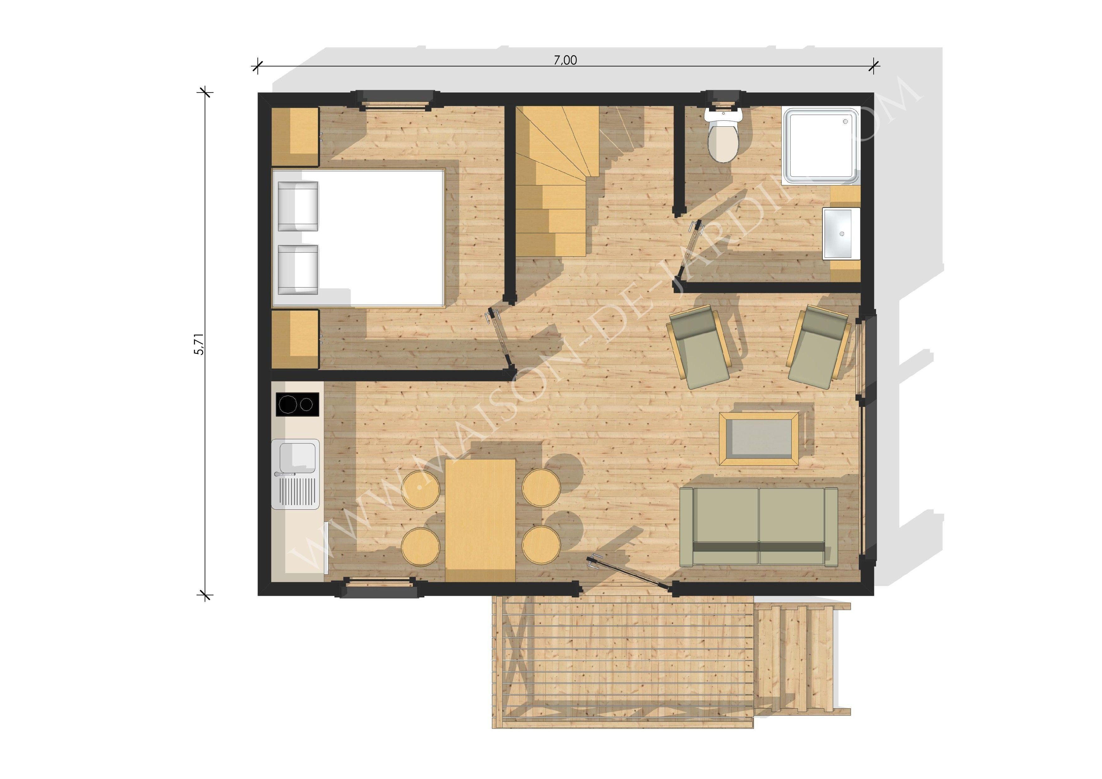 Plan Maison 20m2 Avec Mezzanine Plansdemaisonenbois House Plans Architect Design House Design