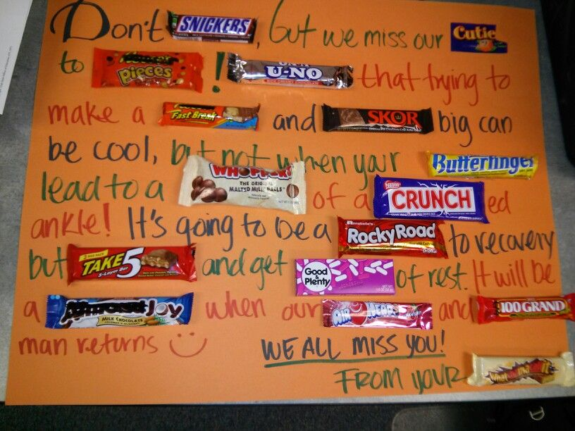 Get Well Candy Card | motivational treats | Pinterest ...