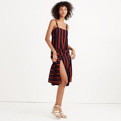 5534507b5 Madewell x No.6 Silk Patchwork Shift Dress in Multi-Stripe ...