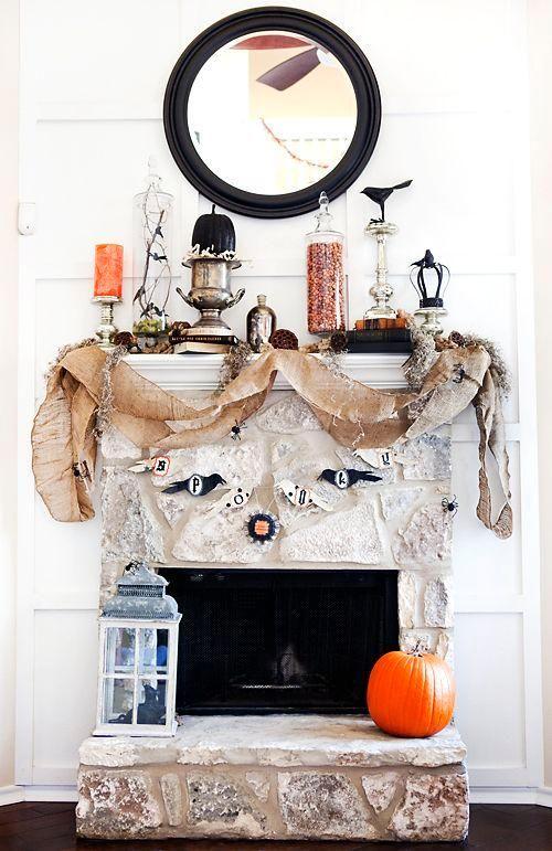 Mantel Decorations  IDEAS a INSPIRATIONS  Halloween Mantels