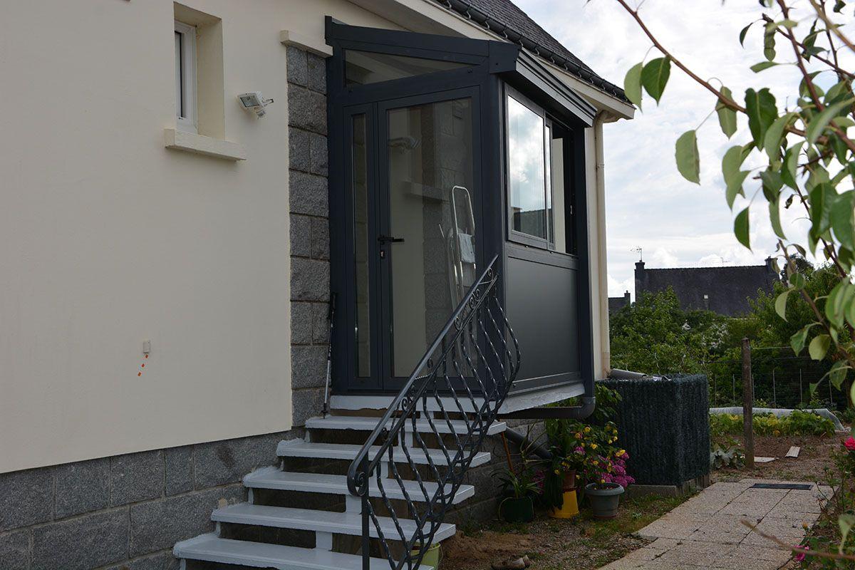 Sas D Entree Deco Maison Black Front Doors Porch Et Doors