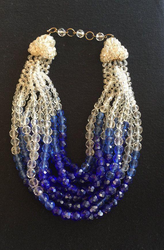 Coppola Toppo Designer Blue Crystal Necklace by AnnaPCuriosities