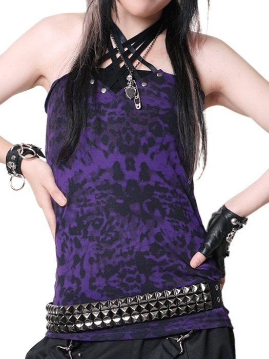 The ever popular LACING UP STUDS camisole has finally been restocked! This is perfect for layering your edgy punk look. Material: 65% Polyester / 35% Rayon Measurement:   Length Width of garment M 50.