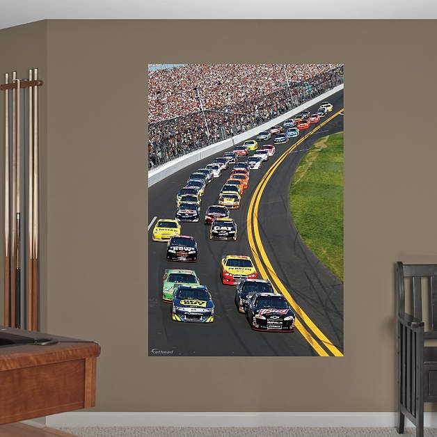 Daytona International Speedway Pack Mural Nascar Room Nascar Custom Wall Decor