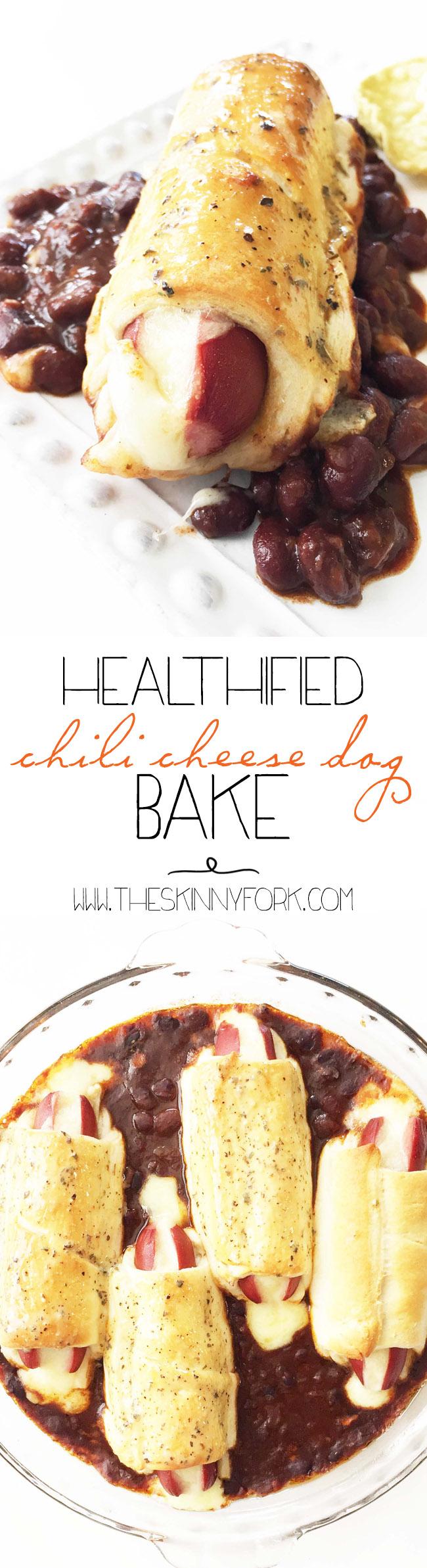 Healthified Chili Cheese Dog Bake | Food recipes, Chili ...