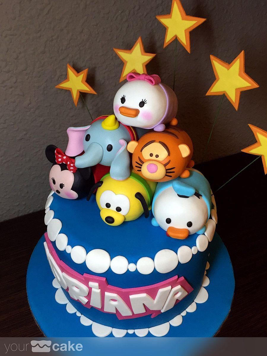 Your Cake Tarta Tsum Tsum Pasteles De Dibujos Animados Tartas Barrita De Caramelo