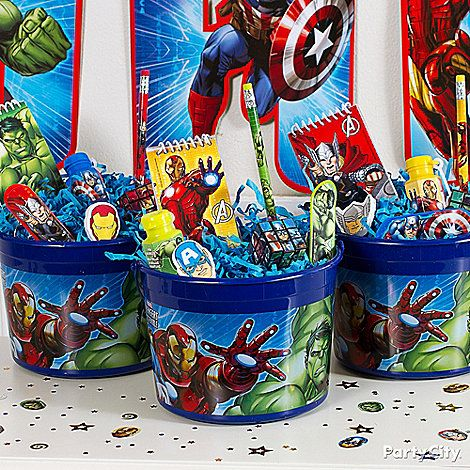Party Bag Avengers Party Ideas Favors Click To View