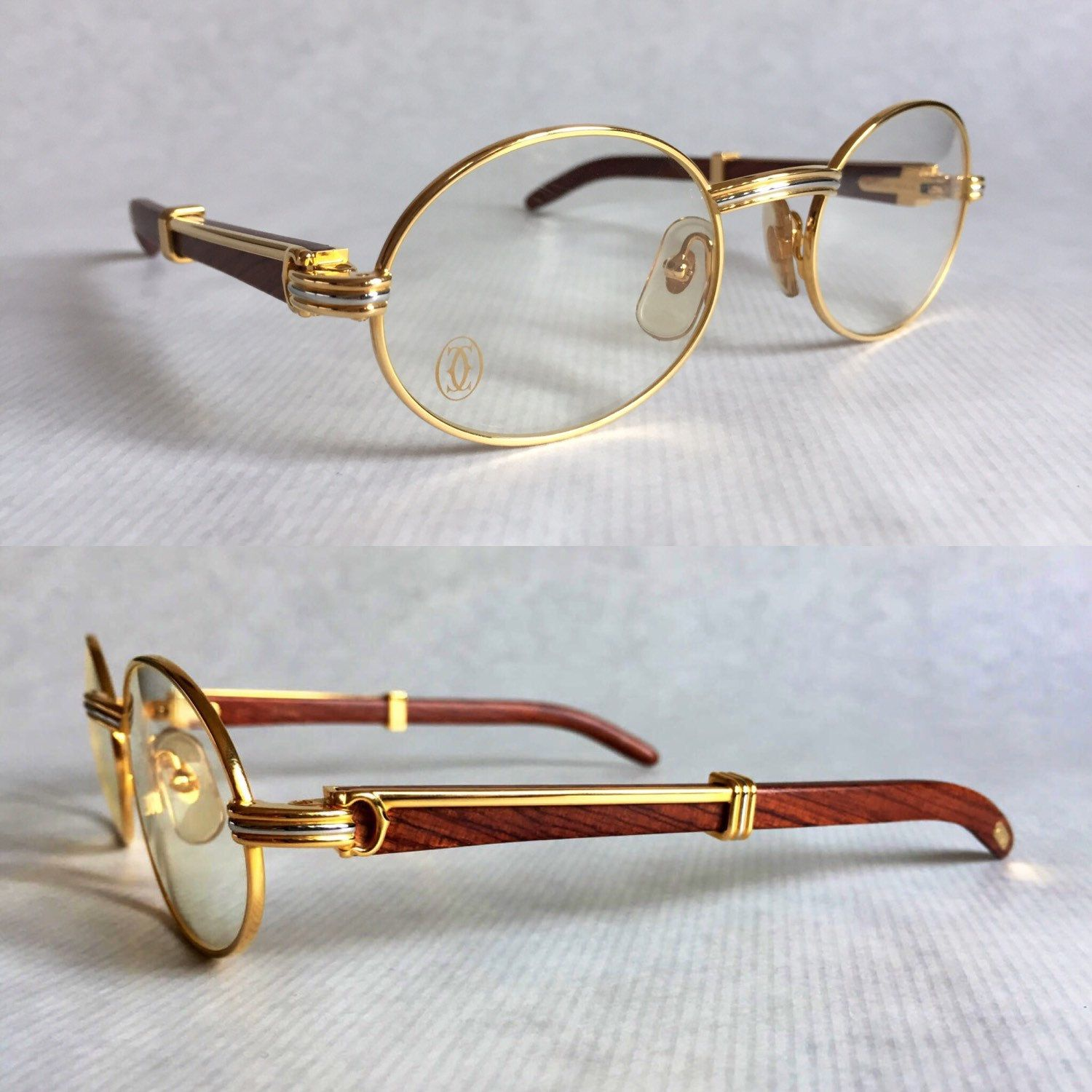 Cartier Giverny Bubinga Wood & 18K Gold | Vintage Eyewear | Pinterest