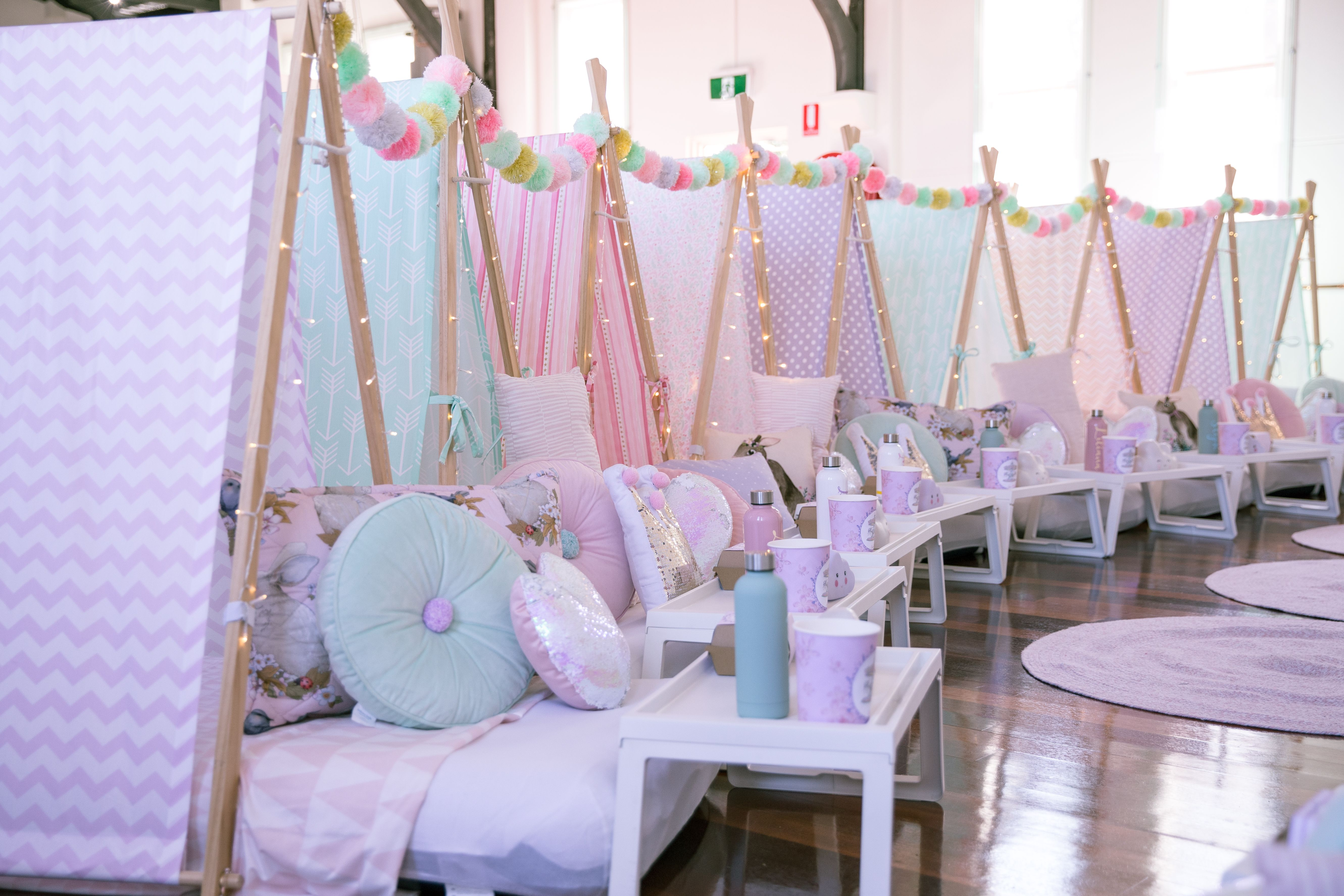 Event Styling by Cookie Queen Kitsch'n in Sydney. Teepees
