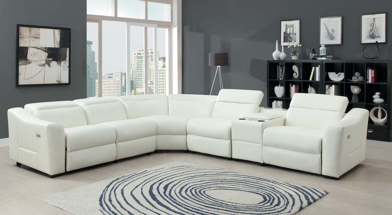Homelegance Instrumental Sectional Sofa Set - White - Bonded Leather ...