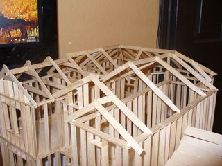 Scale Model House Model Homes Popsicle Stick Houses Architectural Scale