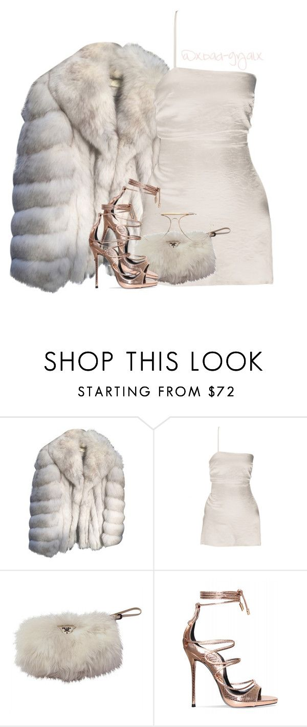 """You a real New Yorker if you go to a party instead seeing the ball drop"" by xbad-gyalx ❤ liked on Polyvore featuring Saga Furs, Prada and CÉLINE"