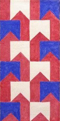 Flags 1958 Alfredo Volpi Arte Geometrica Arte Moderna