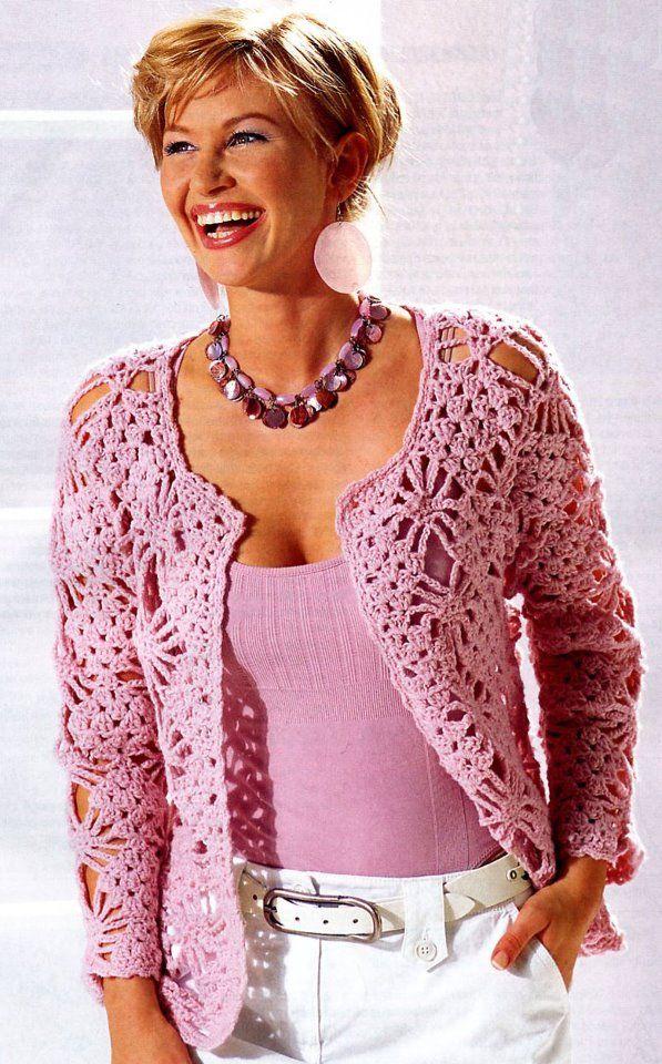 cardigans & gilets au crochet   Cardigan au crochet, Mode crochet et Modèles de pull en crochet