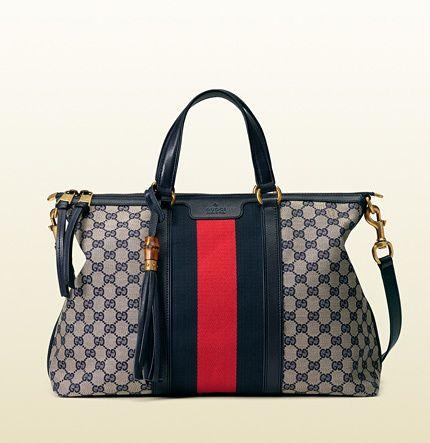 b7a212889 Gucci rania original GG canvas top handle bag on shopstyle.com ...