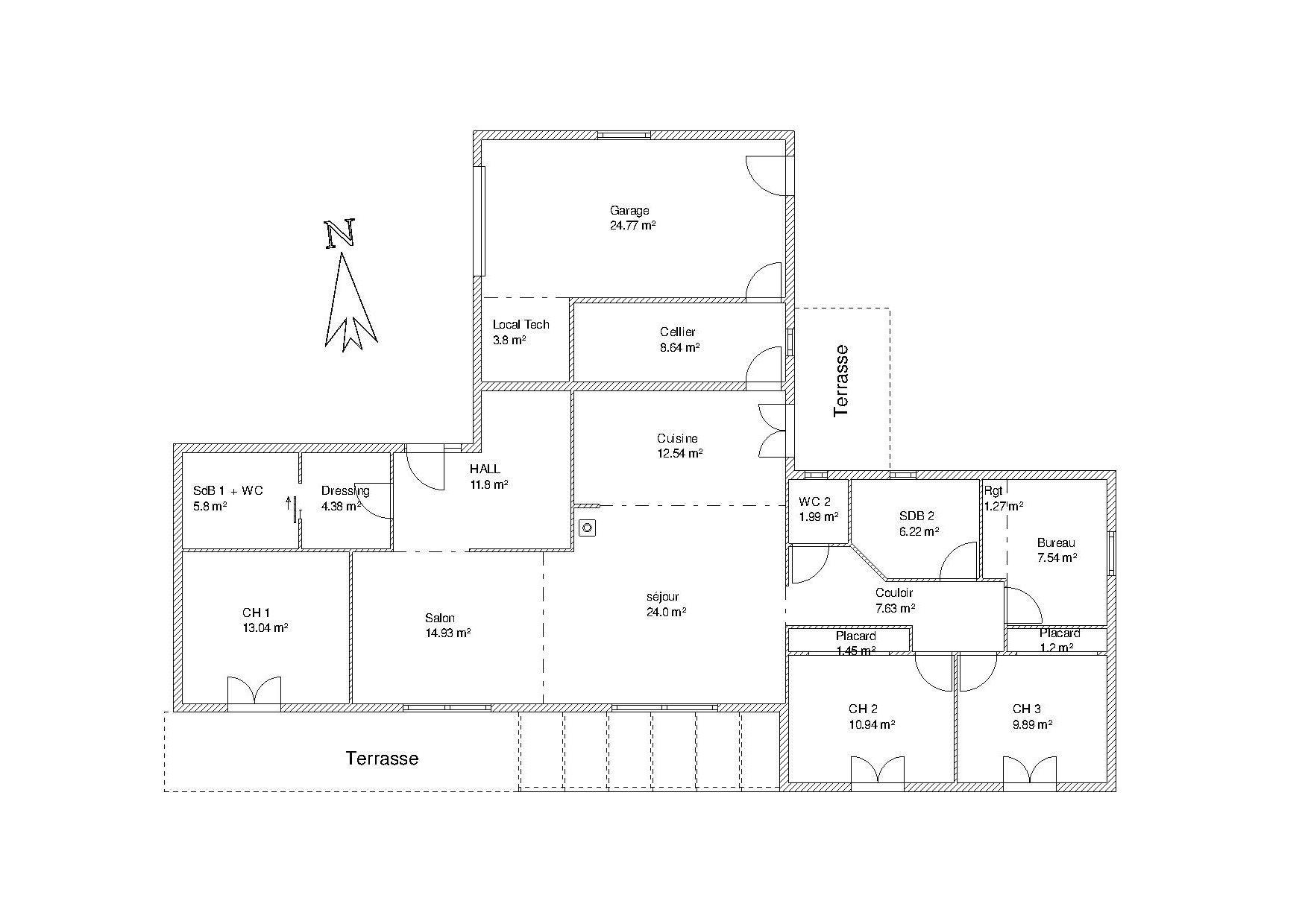 Besoin D Avis Pour Plan De Maison Environ 140 M2 Nouveau Plan En T 73 Messages Page 4 Plan De Maison Maison Plan Maison