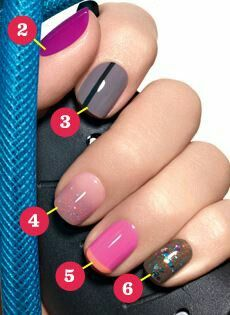 Gel nails. Variety