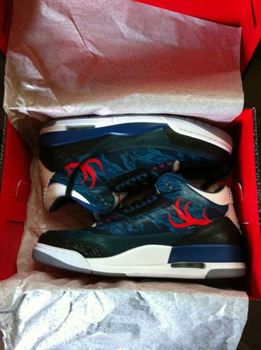 ff0c6192db NIKE AIR JORDAN III 3 RETRO DEER VALLEY TITANS TRUE BLUE SIZE 11 VERY RARE