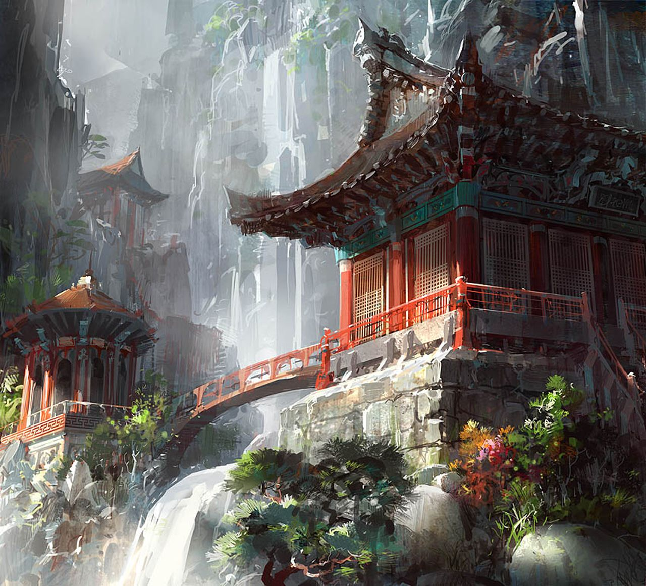 Китайские картинки фэнтези