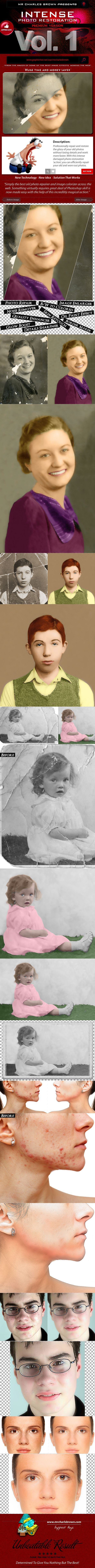 Intense Photo Restoration — Photoshop ABR #aged photo #old photo repair • Available here → https://graphicriver.net/item/intense-photo-restoration/16046637?ref=pxcr