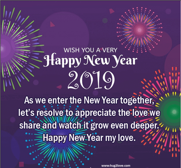 new style 2019 happy new year eve ecard for couple