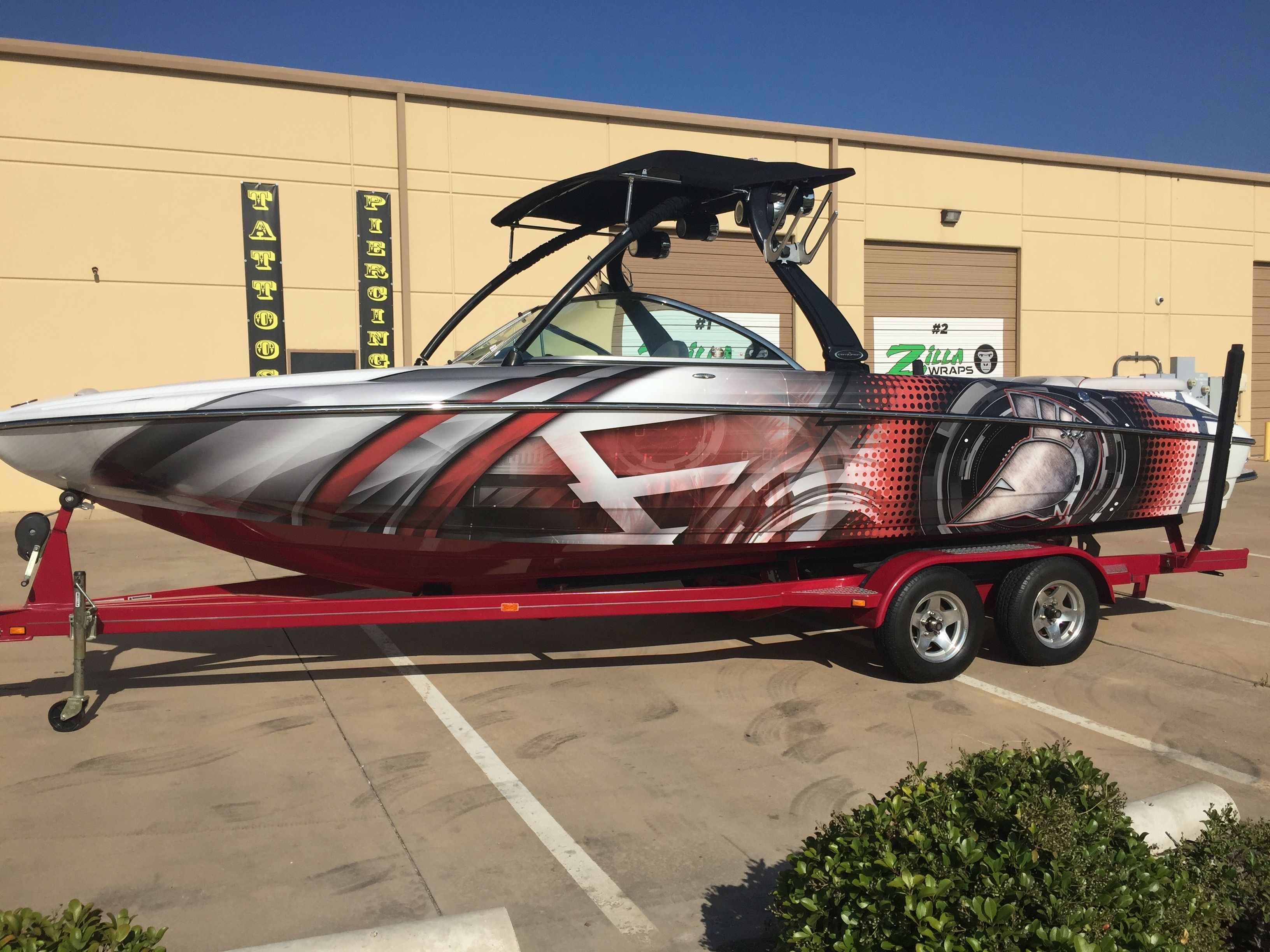 Cool Boat Wraps Trojan Helmet Boat Wraps Pinterest Boat Wraps - Sporting boat decalsbest boat wraps custom vinyl images on pinterest boat wraps