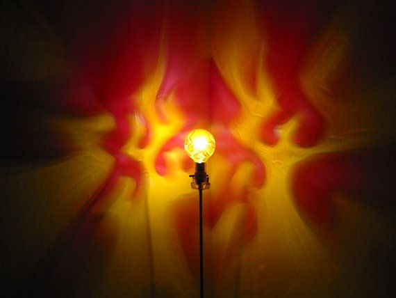 The Original Hand Painted Flames Mood Light Bulb 4 Color Therapy