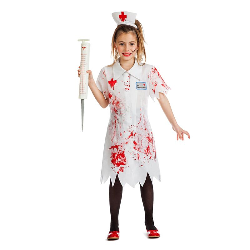 Disfraz de Enfermera Niña Zombie - imagenes de disfraces de halloween