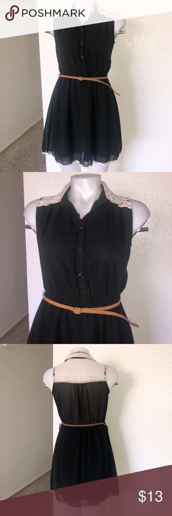 Black Dress With Belt Clothes Design Colorful Dresses Fashion [ 1740 x 580 Pixel ]