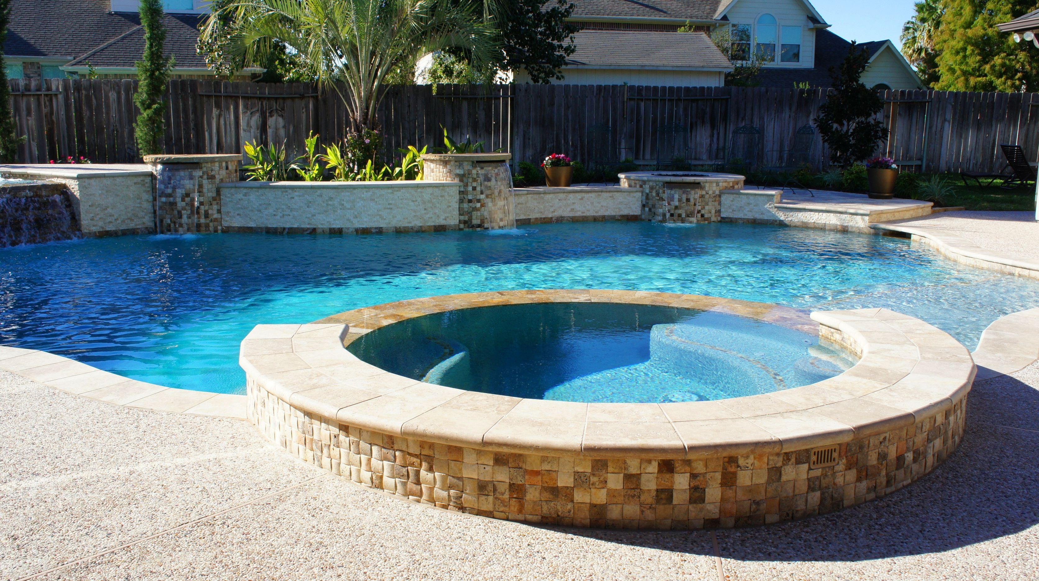 Beautiful backyard paradise | Custom Swimming Pools ...