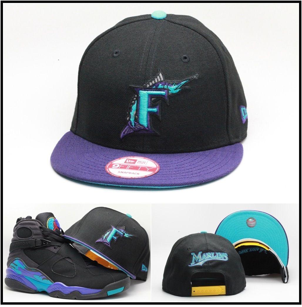 Era Florida Marlins Snapback Hat Designed For Air Jordan Aqua 8 Viii 9Fifty 6539500f64b