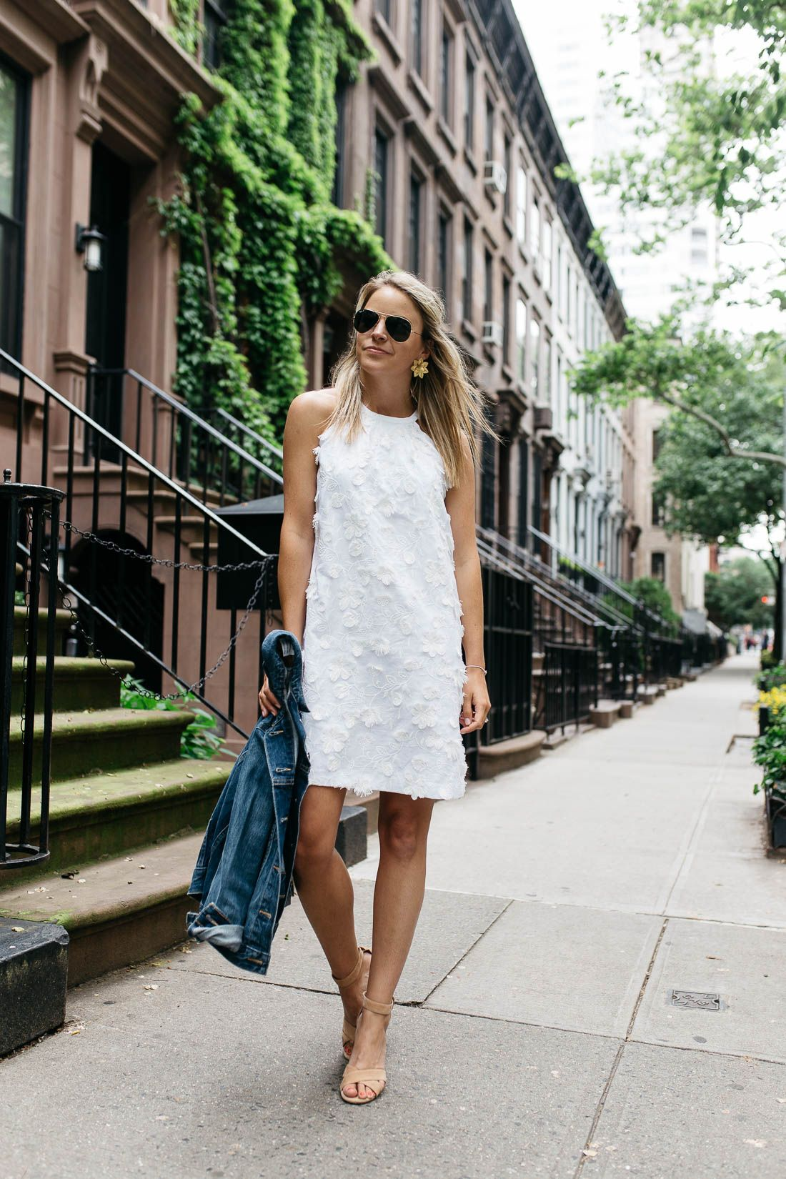 Two Little White Dresses Styled Snapshots Summer Office Dress Spring Attire Dresses [ 1650 x 1100 Pixel ]