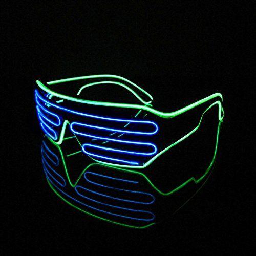 Lerway Black Frame Neon El Wire LED Light Up Shutter Glas ...