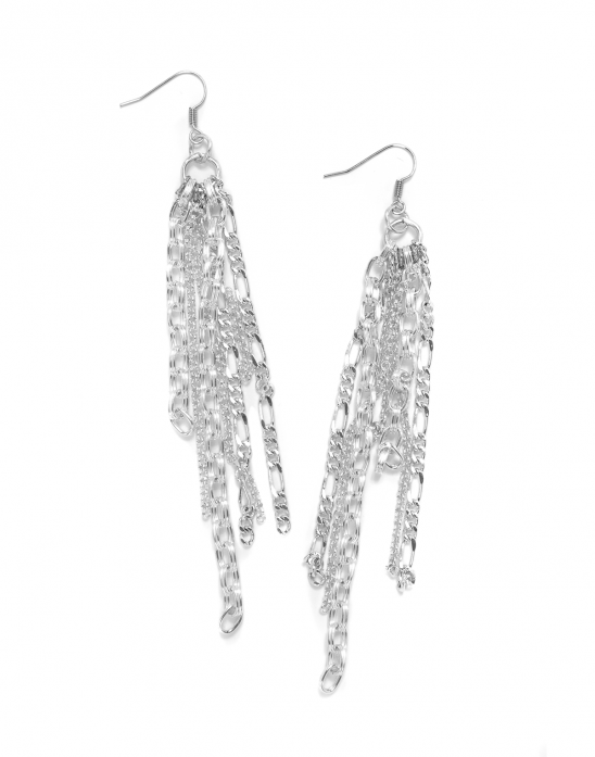 Varied Chain Dangle Earrings Kollabora