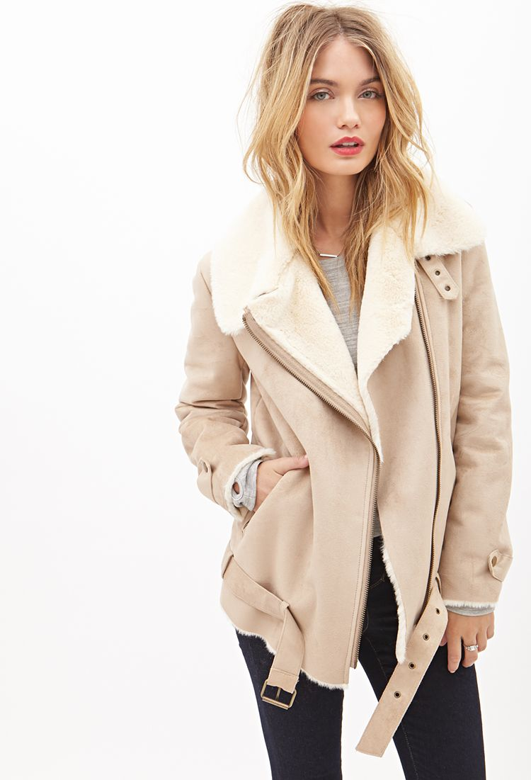 Suede And Sheepskin Coat | Fashion Women's Coat 2017