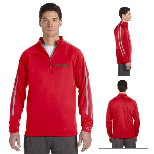 Russell Athletic 8TPEFM Tech Fleece Quarter-Zip Cadet Jacket ...