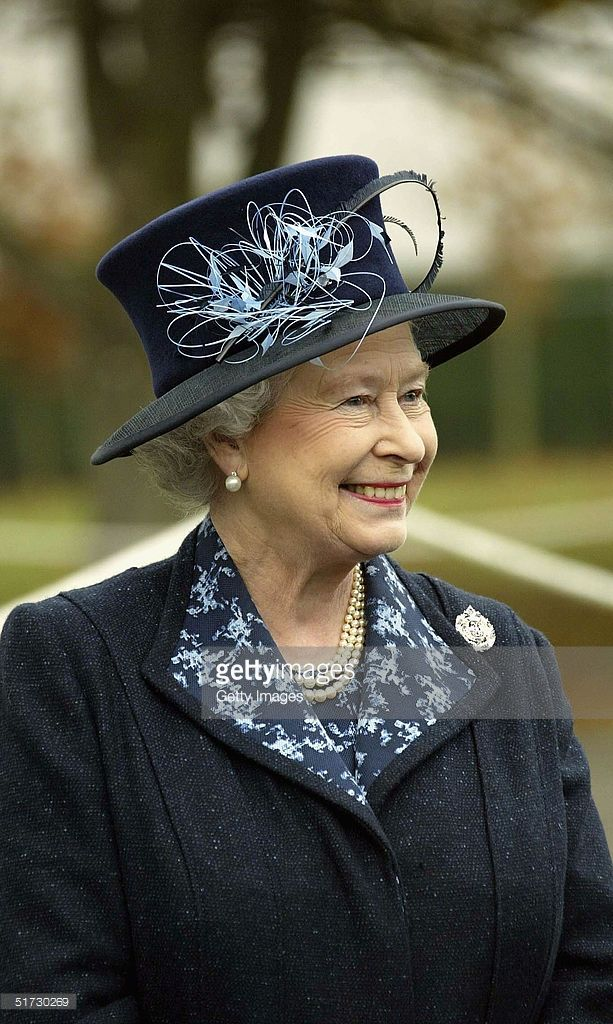 HRH Queen Elizabeth II in buoyant mood at Howe Barracks in Canterbury, November 9 2004 in Kent, England. The Queen presented soldiers with Operational Service Medals for their service and was expected to meet some of the families of those currently serving with the battalion.